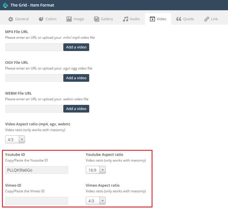 The Grid - Responsive Wordpress Grid Plugin - Documentation