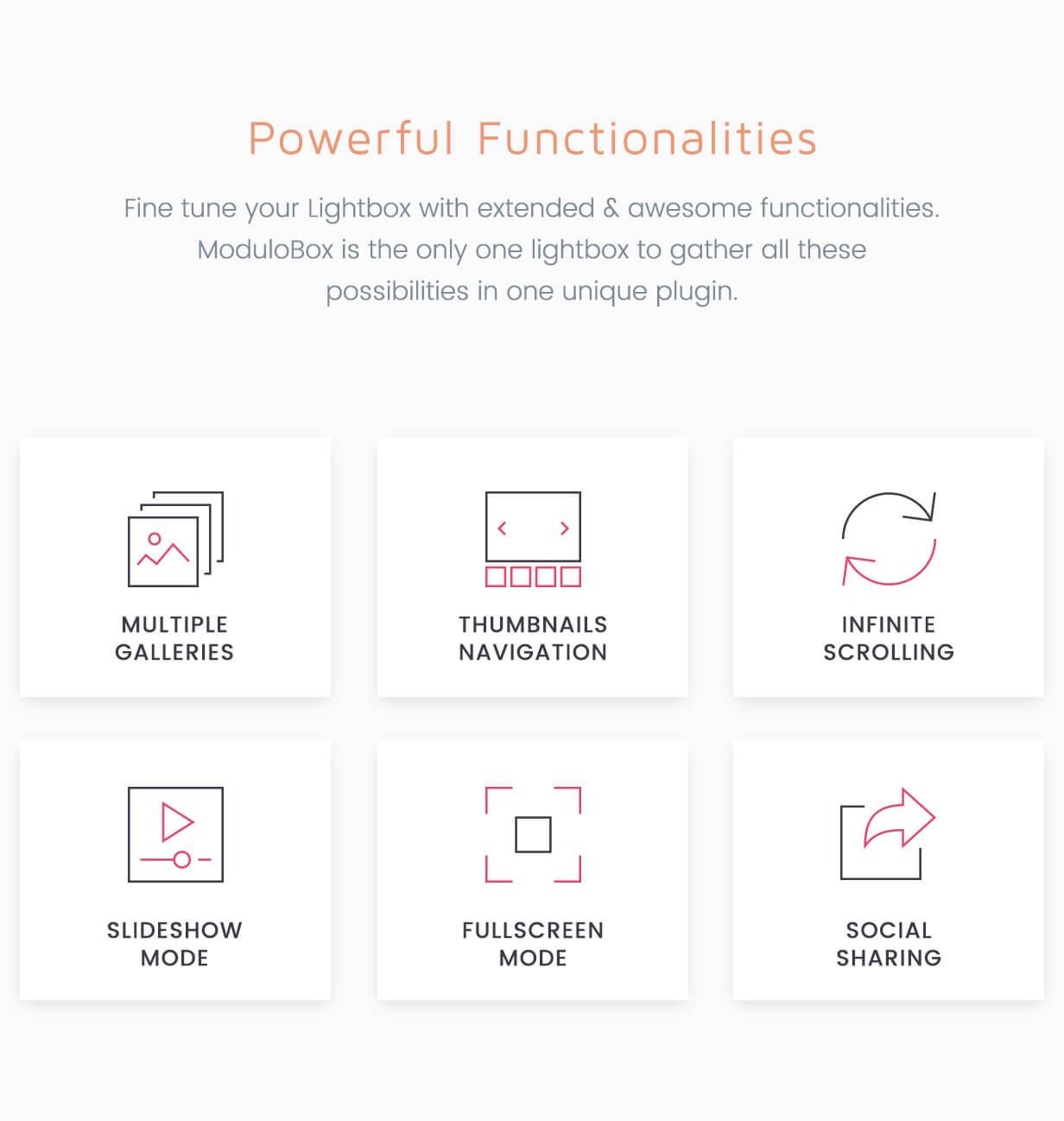 Modulobox JavaScript plugin powerful functionalities