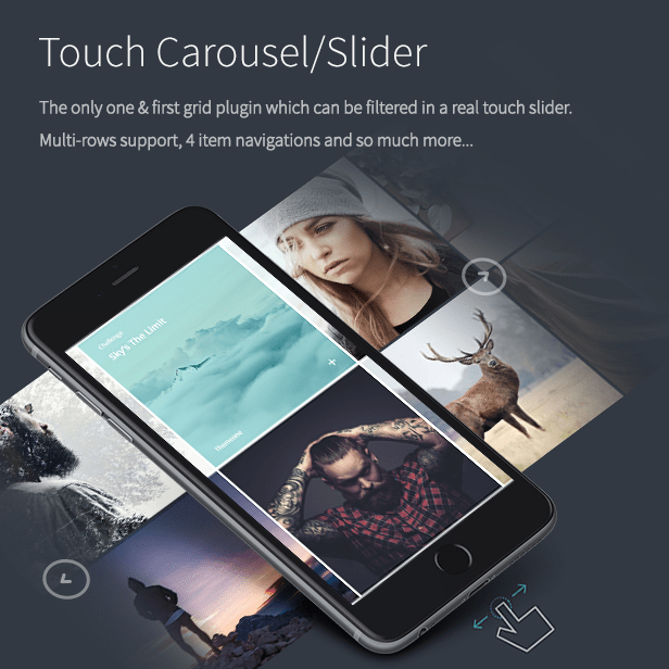 the grid - touch slider