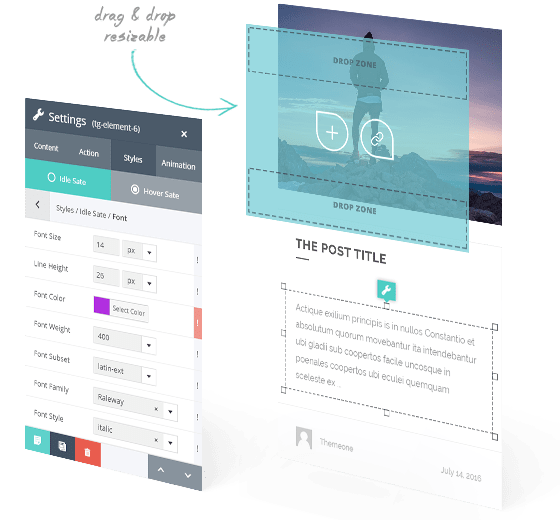 wordpress grid plugin skin builder